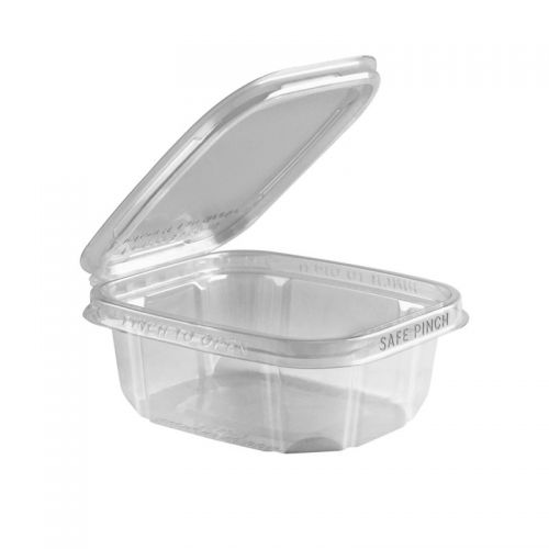 Safe Pinch Tamper Evident Square Hinged Container (355ml)