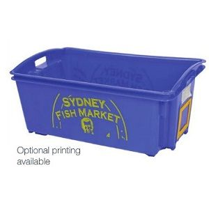 55L Nally Solid Plastic Crate with drainage