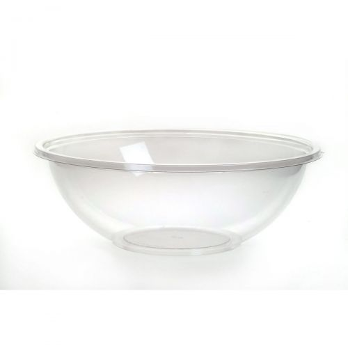 Sabert™ 32oz Anti Fog PET Clear Round Bowl - Poke Bowl