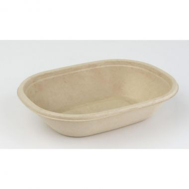Sabert™ Pulp 620ml Oval Bowl