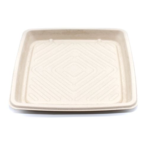 "Sabert™ Pulp 10.7"" Square Platter"