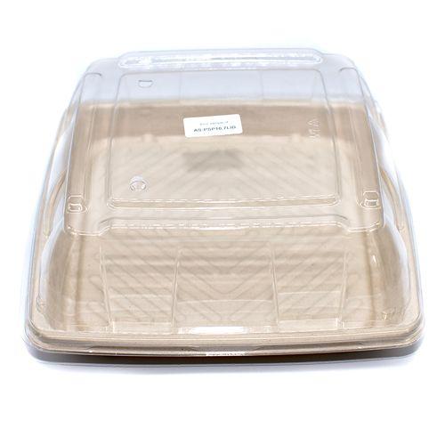 "Sabert™ Pulp 10.7"" Square Platter Lid"