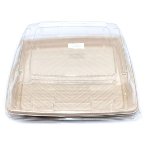 "Sabert™ Pulp 12"" Square Platter Lid"