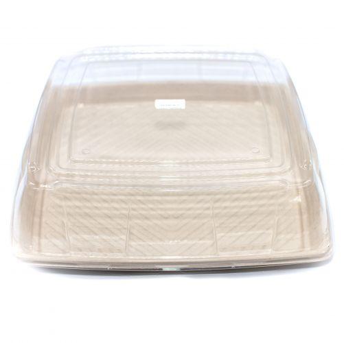 "Sabert™ Pulp 16"" Square Platter Lid"