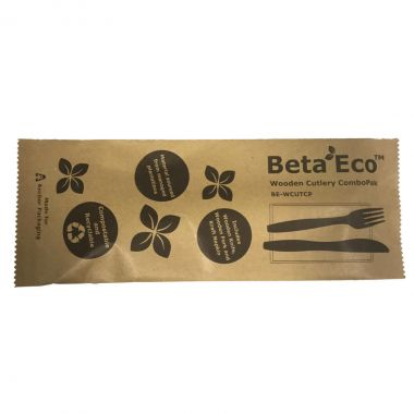 BetaEco™ Wooden Cutlery Combo Pack