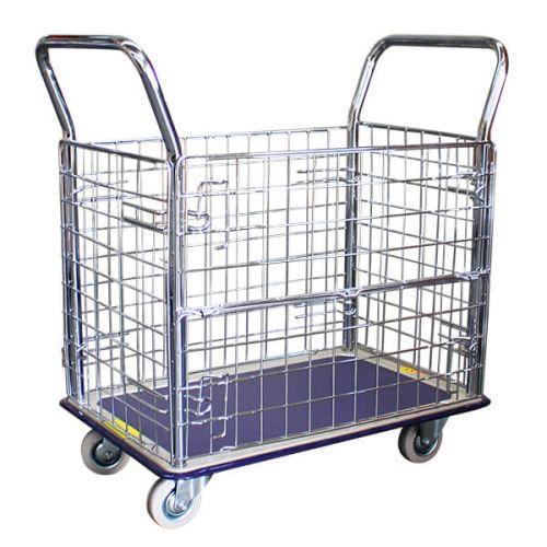 Single Deck Caged Platform Trolley (740x480mm)