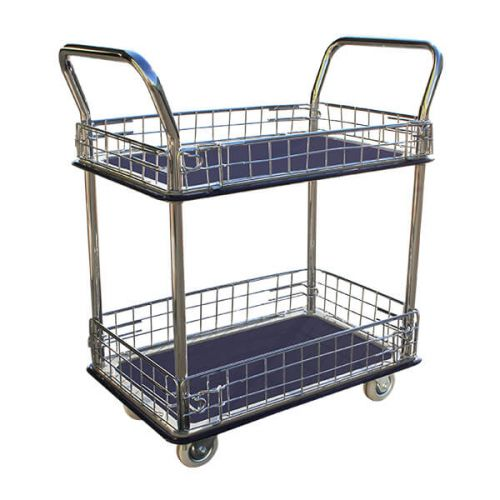 Double Deck Caged Platform Trolley (740x480mm)