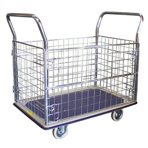 Single Deck Caged Platform Trolley (910x610mm)