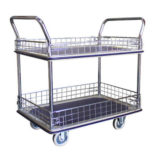 Double Deck Caged Platform Trolley (910x610mm)