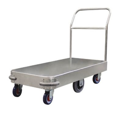 6 Wheel Wide Stock Platform Trolley (Single Handle)