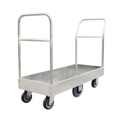 6 Wheel Narrow Stock Platform Trolley (Twin Handles)