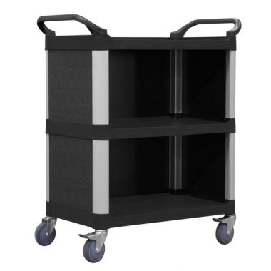 3 Tier Service Trolley with Cabinet (690x430mm)