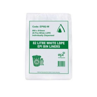 100% Degradable Garbage Bag Liners (82L)