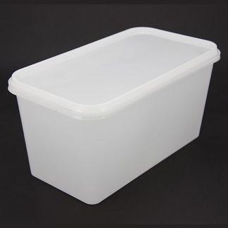 5L Tamper Evident Freezer Grade Rectangular Container & Lid