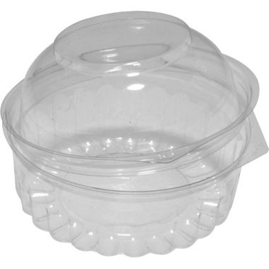 Round Hinged Dome Lid Container (8oz)