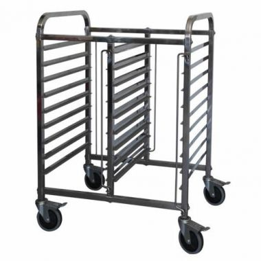 1/1 Double Half Height Gastronorm Trolley
