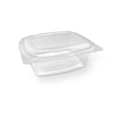 48oz PET Hinged Rectangle Container