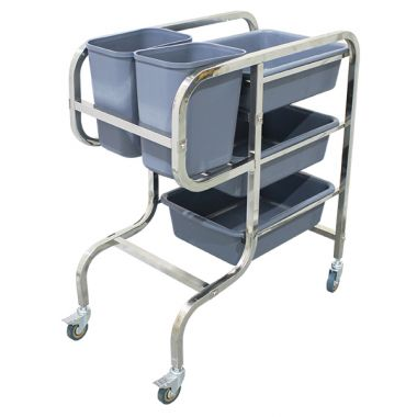 Stainless Steel Cleaning Cart