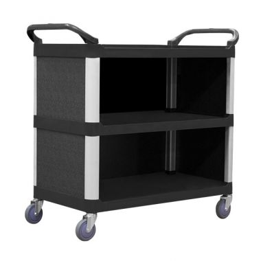3 Tier Service Trolley with Cabinet (895x505mm)