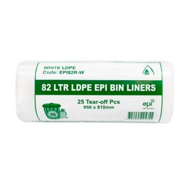 100% Degradable Garbage Bag Liners - Perforated Roll (82L)